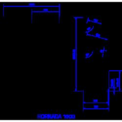 Plaukts HORNADA 1600DP