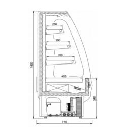 PICCOLI R-1-60 Vitrīna