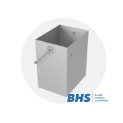 Noņemams atkritumu konteiners no nerūsējošā tērauda