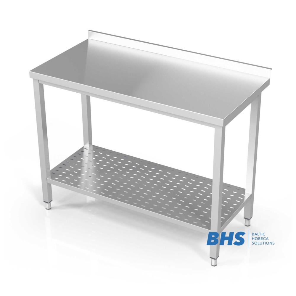 Metāla galds ar perforētu plauktu 400
