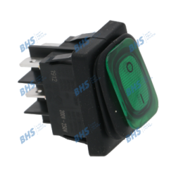 BIPOLAR SWITCH GREEN 16A 250V