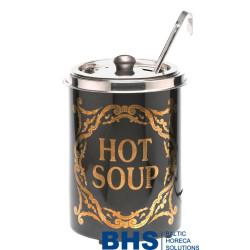 Elektriskais zupas katls Hot Soup, ar zeltu dekoru