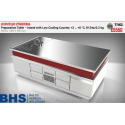 Galds-ledusskapis 2500x1400 mm