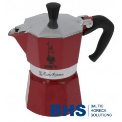 MOKA EXPRESS 3 CUPS RED