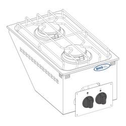 Drop-in gāzes plīts DPC35G 9.5 kW