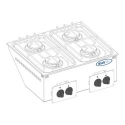 Drop-in gāzes plīts DPC70G 19.0 kW