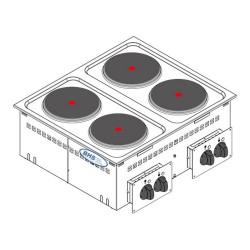 Drop-in elektriskā plīts DPC70E0 10.4 kW