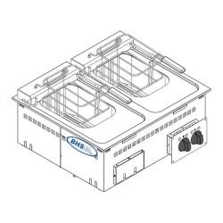 Drop-in elektriskais friteris DFR70E2 8.0+8.0 litri