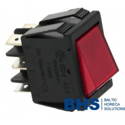 CHANGEOVER SWITCH 2 POLE RED 16A 250V
