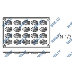 Silikona forma GN1/3 MINI-MADELEINES