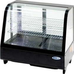 Vitrīna 100 l ar LED apgaismojumu, melna