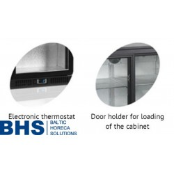 Bāra ledusskapis ar stikla durvīm BA30S2P