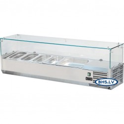 Aukstuma vitrīna 1600 mm