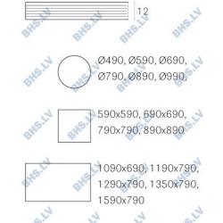 Galda virsma FMP 590x590 cm, kvadrātveida