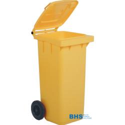 Atkritumu tvertne dzeltena