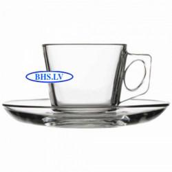 Stikla kafijas krūze/ apakštasīte