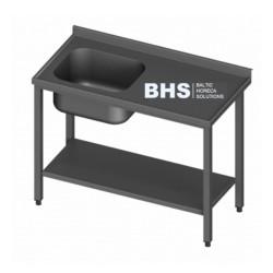 Metāla galds ar izlietni un plauktu 2900