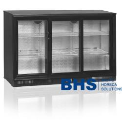 Bāra ledusskapis ar stikla durvīm DB300S3P