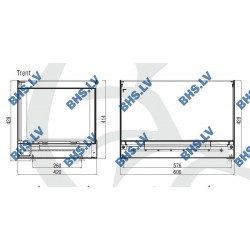 Konditorejas vitrīna TRENT Inox - standard