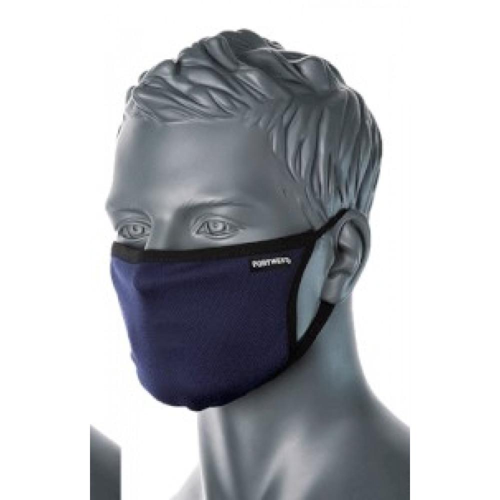 Auduma sejas maska 3-slāņu pretmikrobu Melna