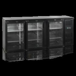 Bāra ledusskapis ar stikla durvīm CBC310G-P
